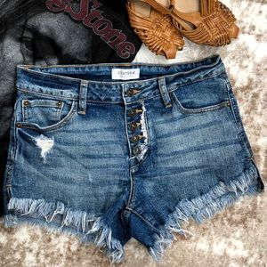 Just USA Ultra Frayed Cut Off Distressed Shorts M